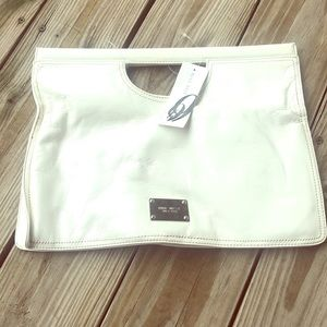 White Nine West clutch
